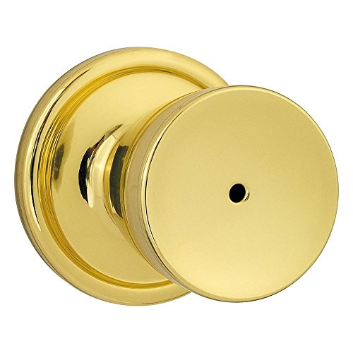 Bell Knob Set Privacy Lock (Kwikset 730A 3 6AL SCS Titan Privacy Lockset Polished Brass)