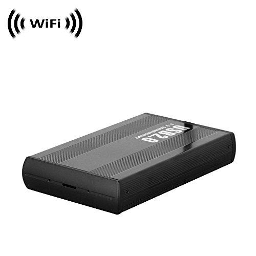 Cheap SCS Enterprises Spy Camera with WiFi Digital IP Signal, Camera Hidden in a Hard Drive Case (Horiz.)