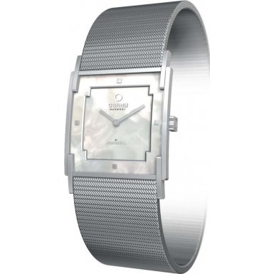 Obaku V105LCWMC Ladies Harmony White Silver Watch