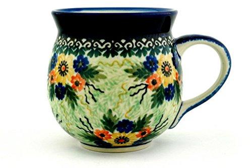 Glorious Spring (Polish Pottery Bubble Mug 12 oz Glorious Spring UNIKAT)