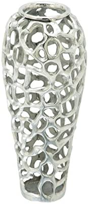 Deco 79 Aluminium Decorative Vase 8″ H-37663