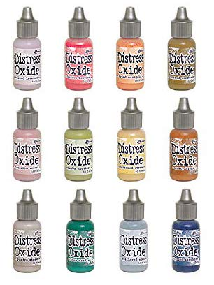 Ranger Tim Holtz Distress Oxide Reinker Bundle Of 12 Colors (Fall 2018 Release) (Reinker Distress Ink)