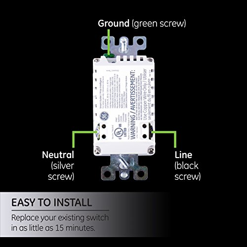 GE Z-Wave Plus Smart Lighting and Appliance Control Receptacle Outlet, On/Off, Tamper Resistant, 1 Always On/1 Controllable Outlet, Zwave Hub Required- Works with SmartThings Wink and Alexa, 14288 by GE (Image #4)