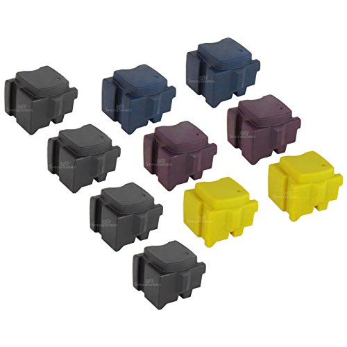 Ink 4 Black Sticks - Speedy Inks - Compatible Replacements for Xerox Set of 10 Solid Ink Sticks Includes: 4 108R00929 Black, 2 108R00926 Cyan, 2 108R00927 Magenta, and 2 108R00928 Yellow for use in Xerox ColorQube
