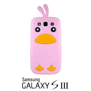 OnlineBestDigital - Chick Style Soft Silicone Case for Samsung Galaxy S3 III I9300 - Pink with 3 Screen Protectors and Stylus