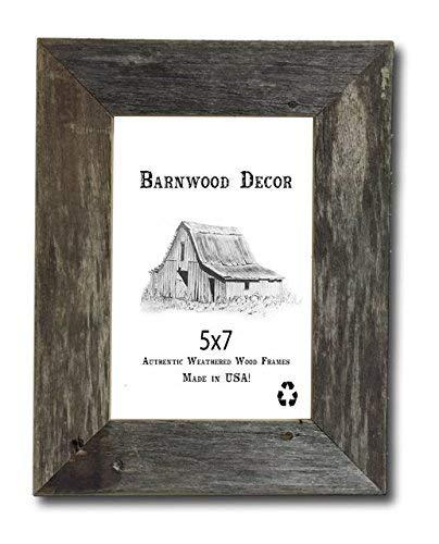 Barnwood Decor of OKC, Old Farmhouse 5x7 Picture Frame Barnwood Frame (5x7) - Barnwood Farmhouse