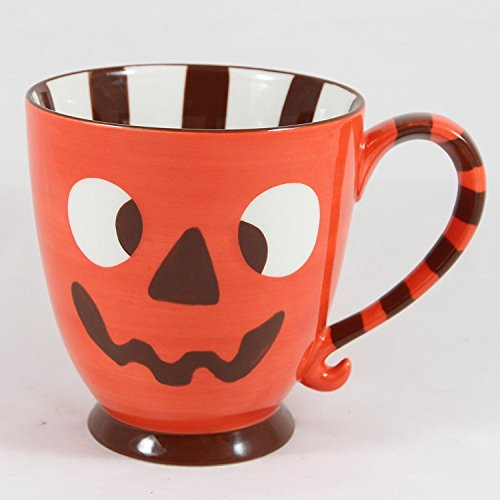 Starbucks Coffee 2007 Halloween Orange Jack-o-Lantern Monster Mug