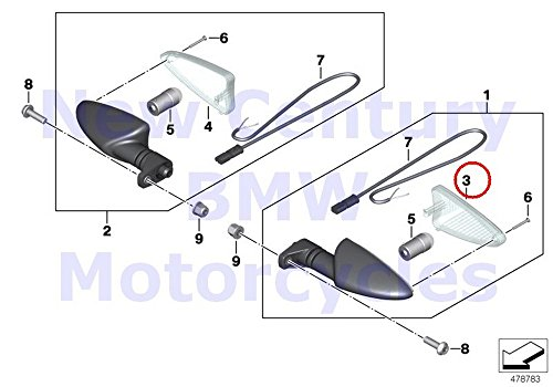 BMW Genuine Motorcycle Front Rear Turn Signals Lamp Lens C600 Sport R nine T HP4 S1000RR S1000R S1000XR R1200GS R1200GS Adventure R1200R F700GS F800GT F800GS F800R F800GS Adventure G650GS G650GS Serta