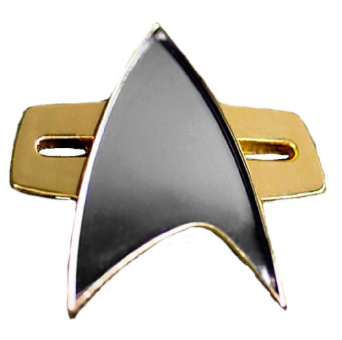 Star Trek Voyager Ds9 Communicator Replica Uniform Pin Gold -
