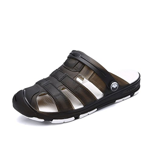 Sommer Chaussons Hommes Chaussures Bad Plastique Chaussons Sandales Loisirs noir knend troc Trou Chaussures Sandales plastique xing lin Plage rapide antidérapant Ux800n