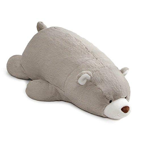 (GUND Snuffles Laying Down Teddy Bear Stuffed Animal Plush, Gray, 27