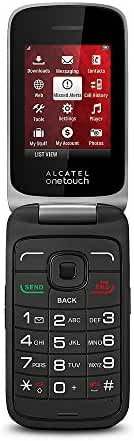 Virgin Mobile - Alcatel One Touch No-Contract Cell Phone - Reddish Black