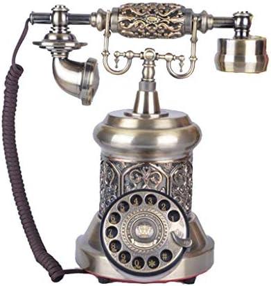 樹脂模造銅レトロな昔ながらのロータリーダイヤル レトロな固定電話古典的なファッションのホームオフィスアンティークターンテーブル電話