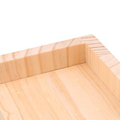 RDEXP L-shaped Semi-closed Lift Wood Bed Desk Riser Lifter Table Furniture Soft Feet Lifts Storage 11.5x11.5x5.3cm by RDEXP (Image #2)