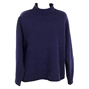 J Crew Men's Lambswool Rollneck Relaxed Pullover Sweater Navy S H2933