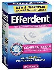 Efferdent Anti-Bacterial Denture Cleanser Tablets - 102 ct, Pack of - Tablet Efferdent Denture