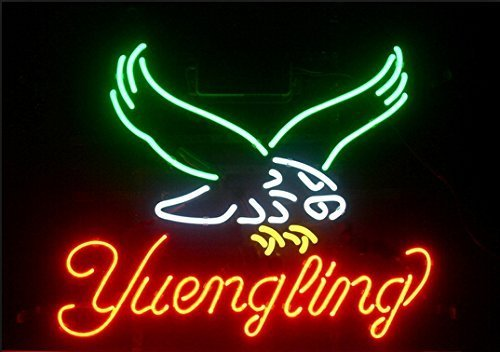 """Beer Cafe Bar Store Neon Light Yuengling Eagle LARGER Neon Sign 20""""x16 Inch"""