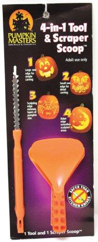Pumpkin Masters  4-in-1 Carving Tool & Scraper Scoop Kit