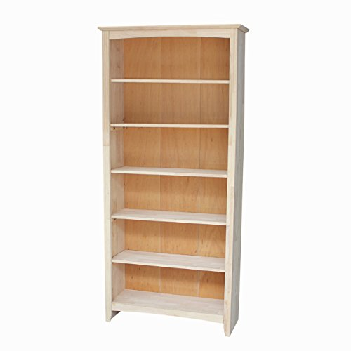 International Concepts Shaker Bookcase, 72-Inch, (72 Bookcase)