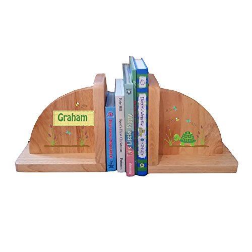 Personalized Turtle Natural Childrens Wooden Bookends by MyBambino