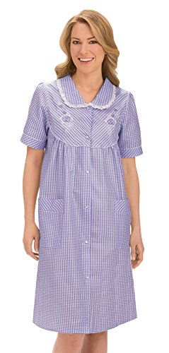 Womens Floral Gingham Machine Washable