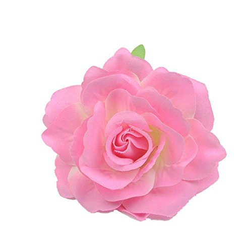 Lovefairy Beautiful Rose Flower Hair Clip Pin up Flower Brooch For Party Travel Festivals (Gradient Pink)