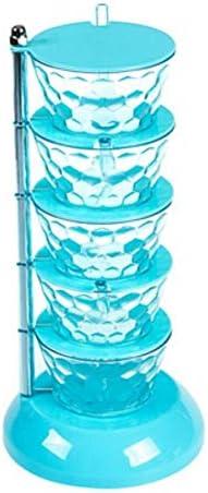 あなたのキャビ 缶の組み合わせセット家庭用収納ボックスを調味料創造垂直スパイスボックスキッチン塩MSGを回転させます はパントリー (Color : Blue 5 grid)
