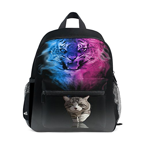Toddler Pre Backpack Cat ZZKKO Kids Tiger Kindergarten Boy School for Bag Girls xtItqzw5B