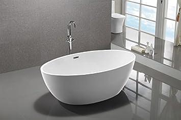 Standarmatur Für Freistehende Badewanne freistehende badewanne destino acryl weiß 175x100cm armatur