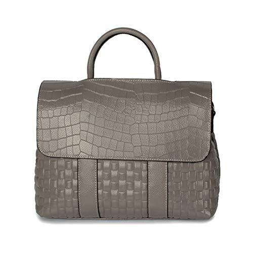 Cocodrilo Diagonal Simple Mano Gray color Hombro Cuero Handbag De Paquete Wild Flip Baachang Bolso Purple qvncSUTv8