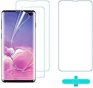 ESR Screen Protector [TPU Film] Compatible with Samsung Galaxy S10 Plus, 3-Pack [Plus 1 Extra for Practice], Full-Coverage Liquid Skin Easy Installation Kit for Galaxy S10 Plus