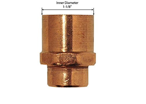 3/4' Copper Fitting Adapter - Libra Supply 1'' x 3/4'', 1 x 3/4 inch, 1 x 3/4-inch Wrought Copper Pressure Reducing Female Adapter C x FIP, (Click in for more size options)Copper Pressure Pipe Fitting Plumbing Supply