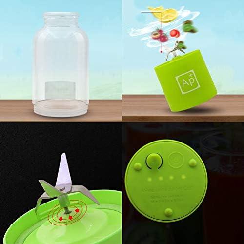 LI_HUA Licuadora Personal Portable Juicer Cup Mini Mezclador USB Recargable Exprimidor de Frutas Exprimidor de Frutas Fabricante para el hogar 500 ml