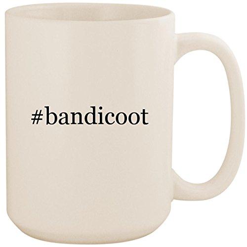 #bandicoot - White Hashtag 15oz Ceramic Coffee Mug Cup