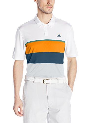 adidas Golf Mens Climacool Engineered Stripe Polo Shirt