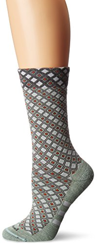 Sockwell Women's The Avenue Stripe Crew Socks, Celadon, Small/Medium