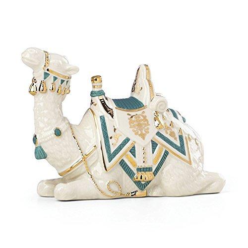 Lenox First Blessing Nativity Lying Camel Figurine Teal Saddle Porcelain Christmas (Nativity Lenox)