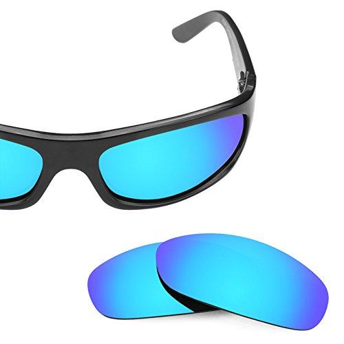Verres de rechange pour Maui Jim Surf Rider MJ261 — Plusieurs options Bleu Glacier MirrorShield® - Polarisés