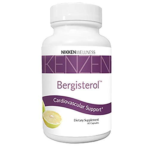 Nikken All-Natural Kenzen Bergisterol Capsules, Support Cardiovascular Health and Cholesterol Levels within the Normal Range (Cholesterol Normal)