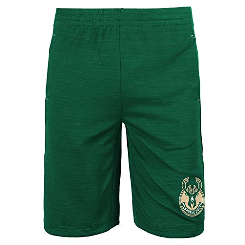 Outerstuff Milwaukee Bucks NBA Youth Free Throw Shorts Green (Youth X-Large 18/20) (Butler Basketball Shorts)