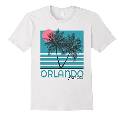 Mens Orlando Beach FL T Shirt Vintage Florida Souvenirs 2XL White (Beach Mens Vintage T-shirt)