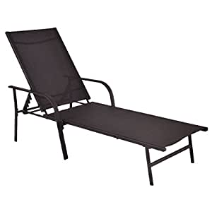 Pool Chaise Lounge Chair Recliner Patio Furniture With Adjustable Back for your patio