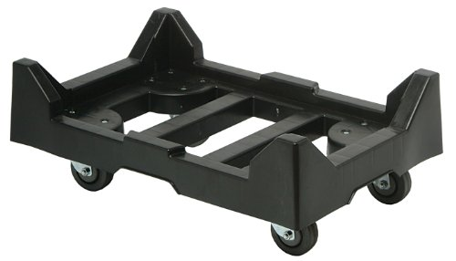 Quantum DLY-2415 Plastic 24-Inch by 15-Inch Dolly with 1-Inch Ledge, Black ()