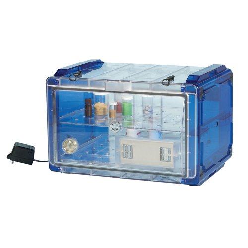 Bel-Art Secador Blue 4.0 Horizontal Auto-Desiccator Cabinet with Clear Door; 230V, 1.9 cu. ft. (F42074-0227)