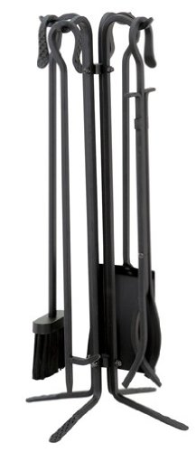 Uniflame T18070BK, 5pc Black Wrought Iron Toolset by Uniflame
