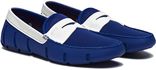 Swims Mens Penny Loafer Royal White Size 10.5