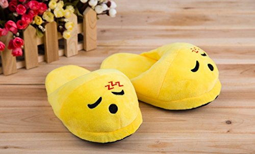 Slippers Emoji Novelty Slippers Sleeping Many Styles, Cute Emoji Faces Mad, Heart Eyes Kiss Heart Sunglasses Dog Poo Wink or Purple Devil To Choose - Glasses Face Heart