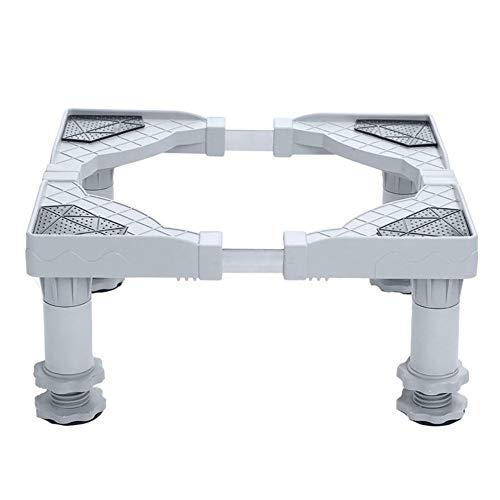 Rundaotong-US Stainless Steel Refrigerator Washing Machine Base Portable Washer Dryer Stand Multi-Functional Movable with 4 Feet Adjustable Base for Dryer, Washing Machine