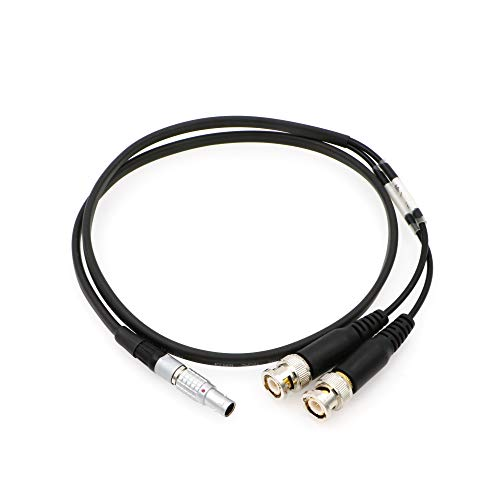 Uonecn Sound Devices XL-LB2 Timecode Input Output Cable 5 pin Male to BNC Used for time Code Jamming of BNC-Equipped A/V Equipment That has SMPTE time Code by Uonecn