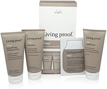 Living Proof No Frizz Smoothing and Frizz Fighting Travel Kit 4pc by Living Proof